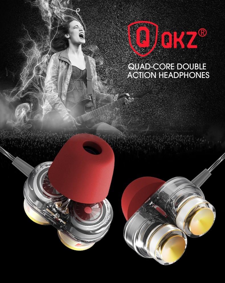 Casti QKZ KD7 in-ear Dual drive quad core