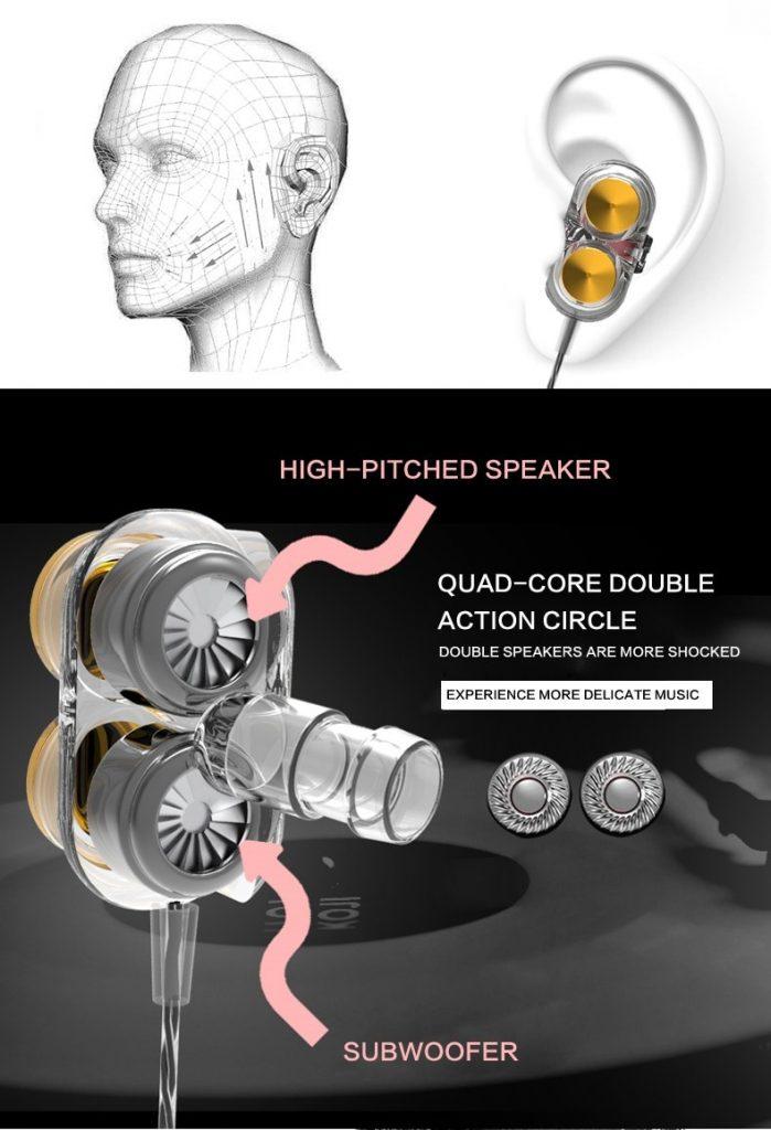 Casti QKZ KD7 in-ear Dual drive 5